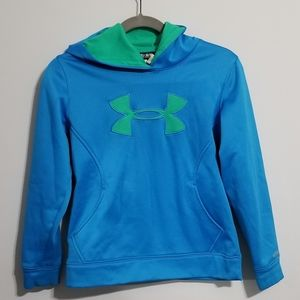 Under Armour Youth Medium Blue and Green Hoodie